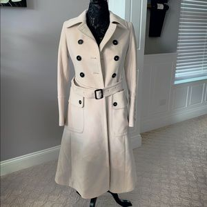 SALE Burberry | Double Breasted Wool Dress Coat